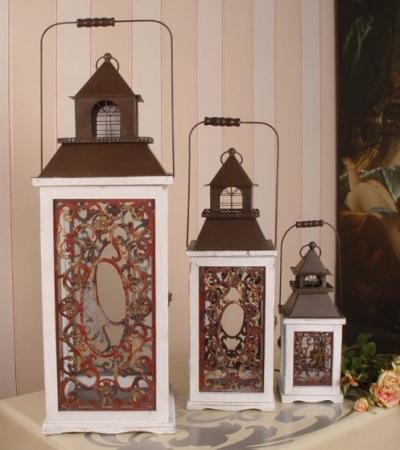 drei vintage gartenlaternen awc004 palazzo int. Black Bedroom Furniture Sets. Home Design Ideas