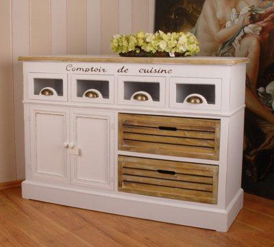 landhausstil sideboard anrichte shabby weiss vintage. Black Bedroom Furniture Sets. Home Design Ideas