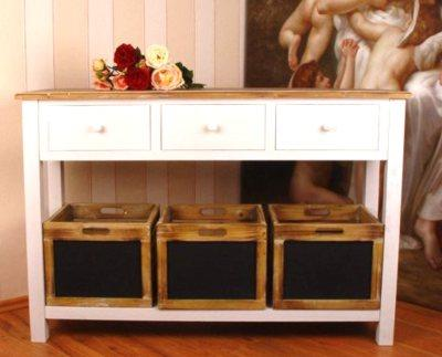 nostalgische anrichte sideboard antik weiss vintage. Black Bedroom Furniture Sets. Home Design Ideas
