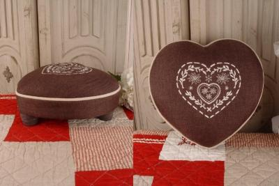 romantischer fusshocker lda007 palazzo int. Black Bedroom Furniture Sets. Home Design Ideas