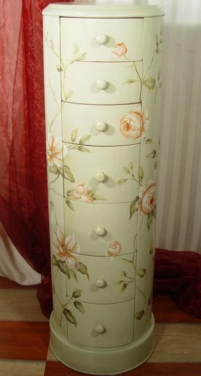 rosenbemalte trommelkommode frf04 palazzo int. Black Bedroom Furniture Sets. Home Design Ideas