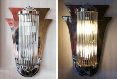 wandlampe im art deco xc25 palazzo int. Black Bedroom Furniture Sets. Home Design Ideas